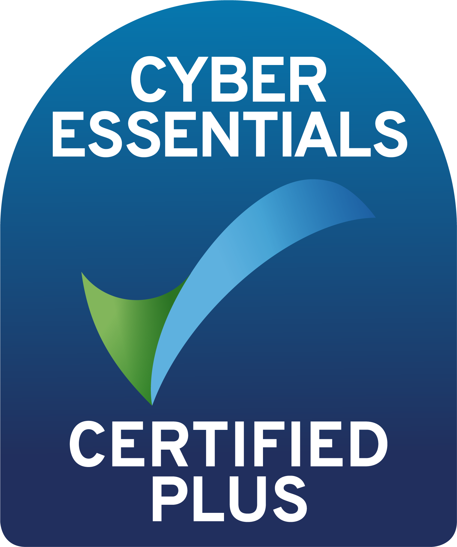 Cyberessentials certification mark plus colour